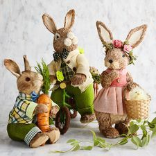Easter Decorations: Spring Home Accents Hoppy Easter, Easter Bunny, Diy Osterschmuck, Birthday Angel, Seasonal Decor, Holiday Decor, Diy Easter Decorations, Different Holidays, Easter Parade
