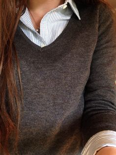 """liliesandpearls: """" Two of my favorite things are seersucker and soft sweaters """""""