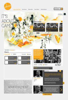 Yabazz Website by Ee Venn Soh, via Behance