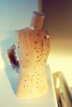 Handmade Vintage Mini Mannequin Pincushion