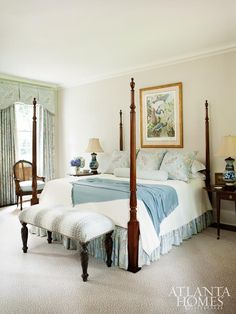 master bedroom - love the chairs in front of the bed vs off in a ...