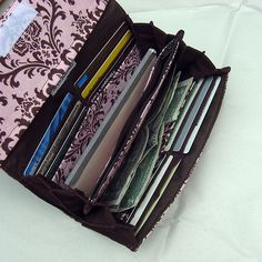 Long accordion wallet that I made back in 2009. Lots of pockets to organize! #sewing #wallet #handmade