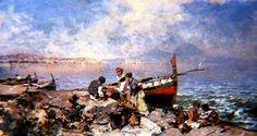 Baie de Naples - (Franz Richard Unterberger)