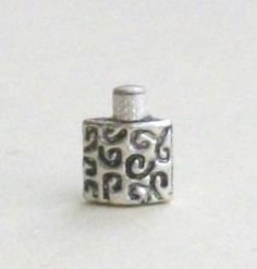 1 24th scale silver flask 7mm