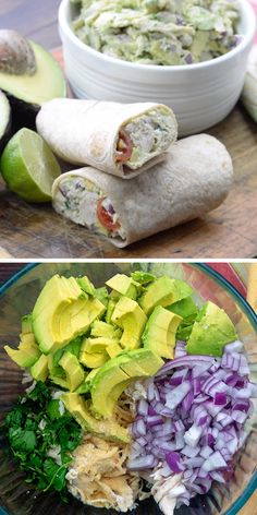 This avocado chicken salad is low carb and keto friendly! It's packed with healthy avocado and juicy chicken This avocado chicken salad is low carb and keto friendly! It's packed with healthy avocado and juicy chicken Healthy Chicken Recipes, Healthy Dinner Recipes, Diet Recipes, Vegetarian Recipes, Cooking Recipes, Soup Recipes, Chicken Wrap Recipes, Chicken Meal Prep, Family Recipes