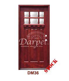 DM55 6 Panel Contemporary Exterior Wood Mahogany Door 8-0   Darpet Interior Doors for Chicago Builders ://darpet.com/products-catalog/exterior-\u2026