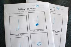 Printables~ | Music Worksheets