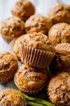 Muffins are small cakes. However, some people easily confuse these cakes with cupcakes. The most recognizable difference between these two kinds of cakes is their appearance. Muffins are simply decorate Donut Muffins, Mini Muffins, Streusel Muffins, Lemon Cranberry Muffins, Apple Cinnamon Muffins, Cinnamon Apples, Cinnamon Spice, Ground Cinnamon, Morning Glory Muffins