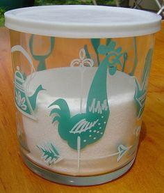 """Hazel-Atlas """"E-Z Store Jar"""" with lid."""