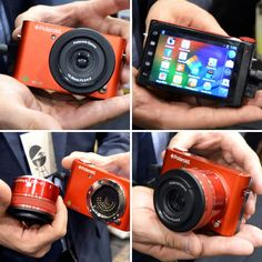 A Polaroid camera with interchangeable lens... powered by Android!