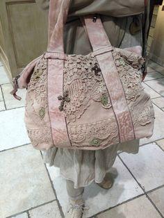 shabby pink bag