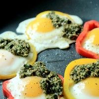 Egg in a Hole with Basil Pesto | Healthy Breakfast