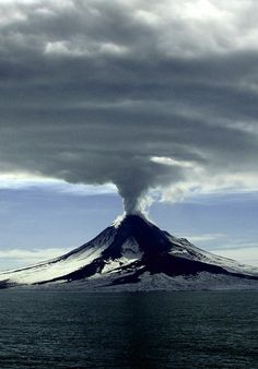 Eruption - the clouds above are amazing...