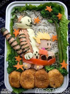Calvin and Hobbes Sushi Bento