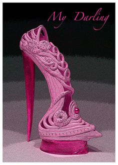 Shoe - you expect to balance on that heel - yeah, right