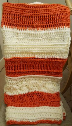 Super chunky crochet front and back post stitches