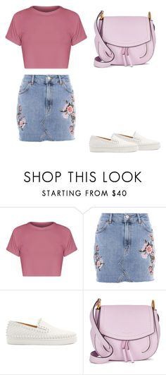 """pinky"" by xoxohadil on Polyvore featuring mode, Topshop, Christian Louboutin et Marc Jacobs"