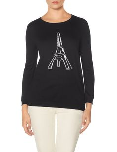 Knit Eiffel Tower Sweater | Women's Sweaters | THE LIMITED