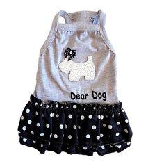 Vestido para Cachorro Dog Paetê Branco Babadinhos Dear Dog - MeuAmigoPet.com.br #petshop #cachorro #cão #meuamigopet