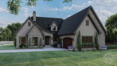 #advancedhouseplans #houseplans #floorplans #homeplans #designbuild #homebuilderplans #architecturaldesign #homedesign #curbappeal #martinson #walkinpantry #moderncottage #oldworldcharm #charminghomedesign #exteriorhomeideas #homeexterior Modern Cottage Style, Cottage Style House Plans, Cottage Homes, Architectural Design House Plans, Architecture Design, Covered Patio Plans, Roof Plan, Sliding Glass Door, Building Design