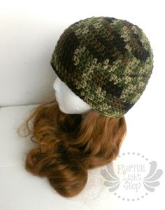 ALL SIZES Camo Beanie by EternalLightShop on Etsy, $18.00