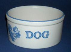 Pfaltzgraff Yorktowne Dog Water Bowl or Food Dish 806 Castle Logo Hard to Find   eBay