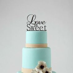Wedding Cake Topper  Love Is Sweet Cake by CorkCountryCottage, $20.00