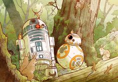 Star Wars, R2-D2, BB8