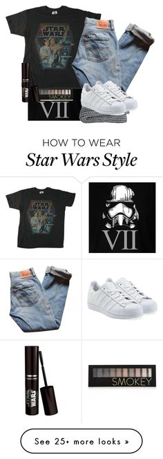 """""""Star wars VII"""" by licornette973 on Polyvore featuring Forever 21, Junk Food Clothing, Levi's and adidas Originals"""