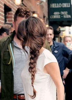 Messy side braids.