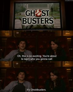 "Zombieland - ""it's ghostbusters"" Movies Showing, Movies And Tv Shows, Zombie Movies, Scary Movies, Cw Series, Film Serie, Ghostbusters, Movie Quotes, Tv Quotes"