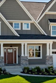 ranch style house with siding and stacked stone google search rh pinterest com