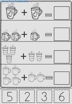 March Math & Literacy- No Prep Kindergarten Math Worksheets, Math Literacy, Worksheets For Kids, Preschool Activities, Numbers Preschool, Preschool Printables, Preschool Math, Math Addition, Math For Kids