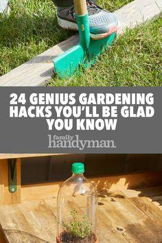 Garden In Pots 24 Genius Gardening Hacks.Garden In Pots 24 Genius Gardening Hacks Garden Yard Ideas, Diy Garden Decor, Lawn And Garden, Garden Projects, Garden Hose, Garden Fences, Veg Garden, Garden Table, Edible Garden