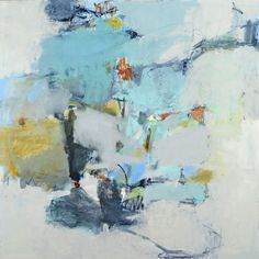 """Jenny Nelson  Sound to Light  48"""" x 48""""  oil on canvas .... Again I am inexplicably drawn to the pale blue"""