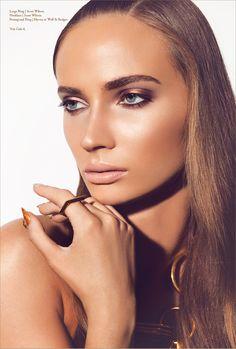 Perfect bronze look - copper gold eyeshadow with nude lip - harryideaz Stunning Makeup, Love Makeup, Makeup Inspo, Makeup Inspiration, Beauty Makeup, Makeup Looks, Hair Beauty, Gold Eyeshadow, Eyeshadow Looks