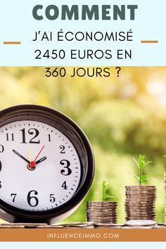 COMMENT J'AI ÉCONOMISÉ 2450 EUROS EN 360 JOURS Diy Home Decor, Lifestyle, Articles, Moment, Biscuits, Saving Tips, Personal Finance, Saving Money, Earning Money