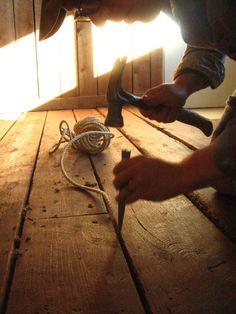 Holz DIY: Like Gaps in Plank Wood Floors Sage and scarlet fever,