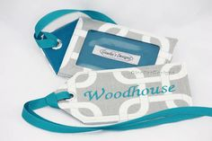 Handmade Luggage tag/ Personalized Luggage Tag/ by GisellasDesigns,