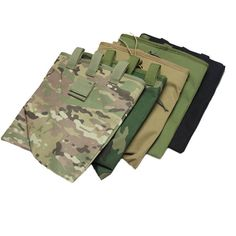 Large Capacity Military Tactical Airsoft Paintball Hunting Folding Mag Recovery Dump Pouch Molle Belt Loop Stuff Sacks