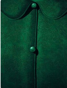 This green jacket looks so soft I want to wear it everywhere! World Of Color, Color Of Life, Go Green, Green Colors, Green Coat, Green Jacket, Slytherin Aesthetic, Slytherin Pride, Color Style
