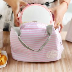 Simple Design Reusable Picnic Insulated Lunch Bag Outdoor Thicken Insulation Cold Bag Handbag Lunchbox Storage Bag
