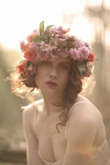 Floral bridal crowns and halos