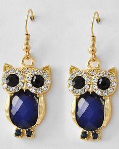 Sapphire Crystal Owl