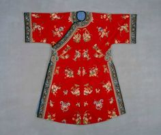 Manchu woman's informal outer coat, 1875-1899. Silk and metal thread embroidery on brushed wool, length: 56 in, 142.24 cm; width: 58 in, 147.32 cm. Neusteter Textile Collection: Gift of James P. grant & Betty Grant Austin, 1977.201 © Denver Art Museum.