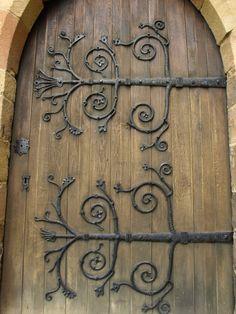 iron work hinges & Decorative Gothic door strap | Hardware u0026 Metal working | Pinterest ...