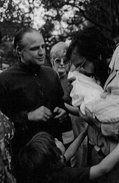 """samuraial: """" Marlon Brando and Francis Ford Coppola after wrapping up filming The Godfather """" Marlon Brando, Godfather Part 1, Godfather Movie, Old Movies, Great Movies, American Horror Story, American Actors, Greys Anatomy Memes, Francis Ford Coppola"""
