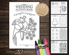 Instant Download Kids Wedding Activity by Studio20DesignsBride