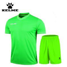 KELME 2016 Summer Club Soccer Jerseys Sport Sets Football Boys Team  Uniforms Training Suit Voetbal Tenue 24346abbef9bf