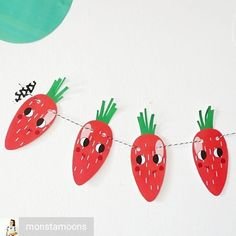Adorable garland by Regrann from - I love fridays, . - Diy And Crafts Paper Folding Art, Paper Art, Origami History, How To Make Origami, Easter Holidays, Your Child, Garland, Crafts For Kids, Concept